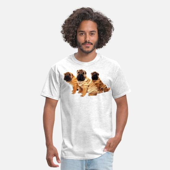 Art T-Shirts - cute dog - Men's T-Shirt light heather grey