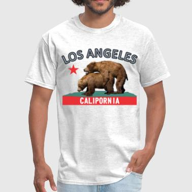 los_angeles_silverblack - Men's T-Shirt