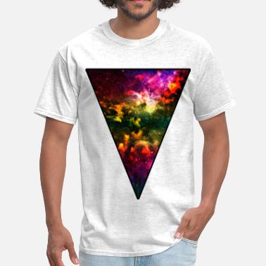 Galaxy Colorful Galaxy Triangle - Men's T-Shirt