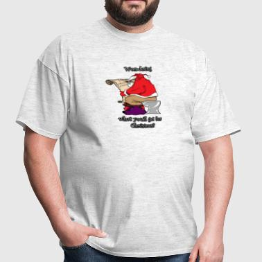 Funny Santa on Toilet - Men's T-Shirt