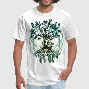 Tree Of Life psychedelic tree - Men's T-Shirt