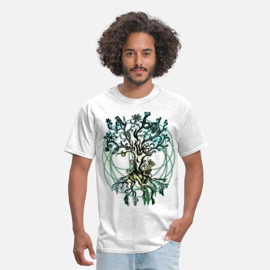 Psychedelic T-Shirts - psychedelic tree - Men's T-Shirt light heather grey