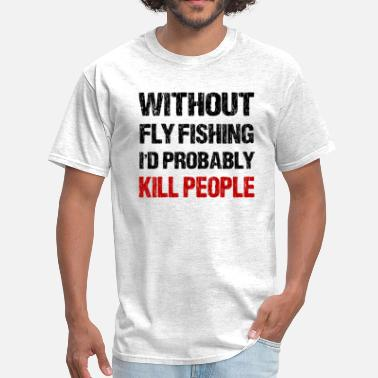 Brown Trout Fly Fishing Funny Fly Fishing - Men's T-Shirt