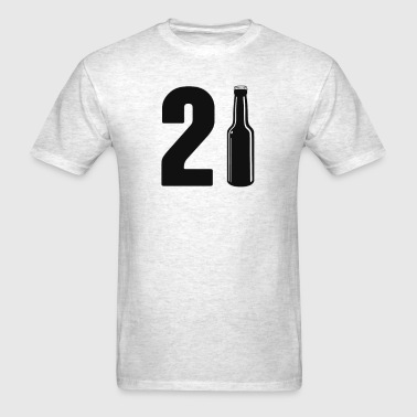 Just Turned 21 Beer Bottle 21st Birthday - Men's T-Shirt