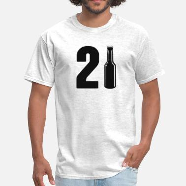 21st Birthday Just Turned 21 Beer Bottle 21st Birthday - Men's T-Shirt