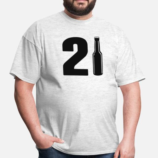 4a83a447 Just Turned 21 Beer Bottle 21st Birthday Men's T-Shirt | Spreadshirt