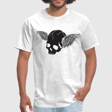 Skull with Wings - Men's T-Shirt