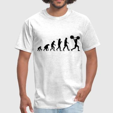 Weight Lifting Evolution evolution_of_weightlifting - Men's T-Shirt