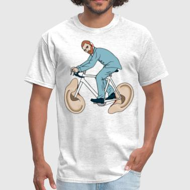 Van Gogh Riding Bike With Severed Left Ear wheels - Men's T-Shirt