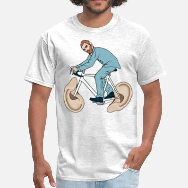 Surrealism Van Gogh Riding Bike With Severed Left Ear wheels - Men's T-Shirt