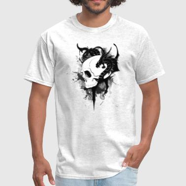 skull dragon graffiti - Men's T-Shirt