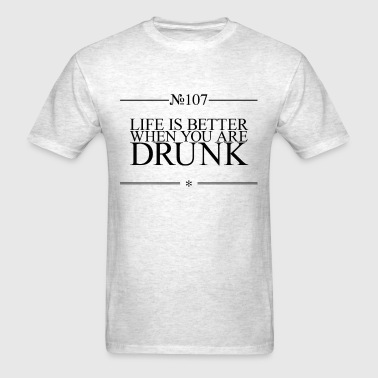 Funny life tip about alcohol - Men's T-Shirt