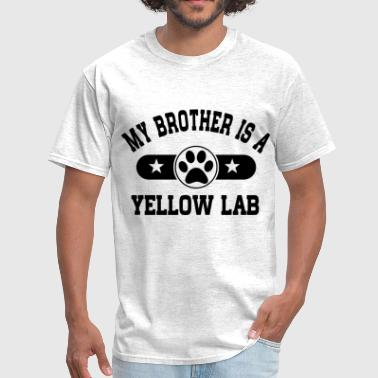 Yellow Lab Lover Yellow Lab Brother - Men's T-Shirt