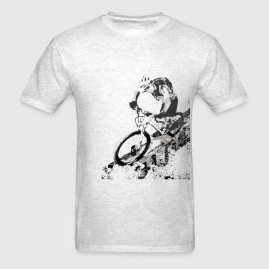 MTB dwnhill bw - Men's T-Shirt
