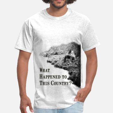 Hillbilly What Happened To This Country tee - Men's T-Shirt