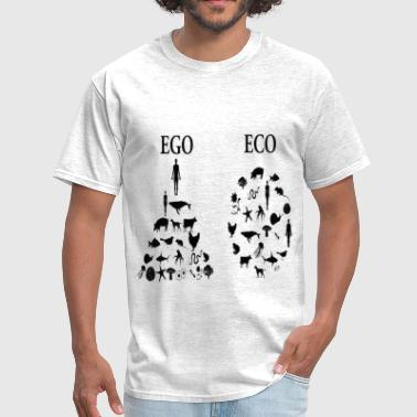 animal rights ego vs eco - Men's T-Shirt