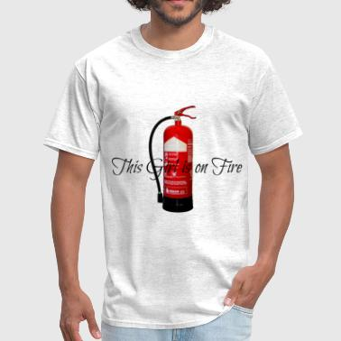 This Girl Is On Fire Girl on Fire  - Men's T-Shirt