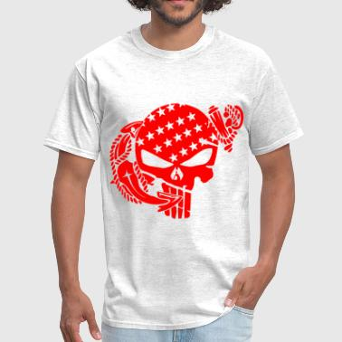 Skull & Anchor Marine     ©WhiteTigerLLC.com   - Men's T-Shirt