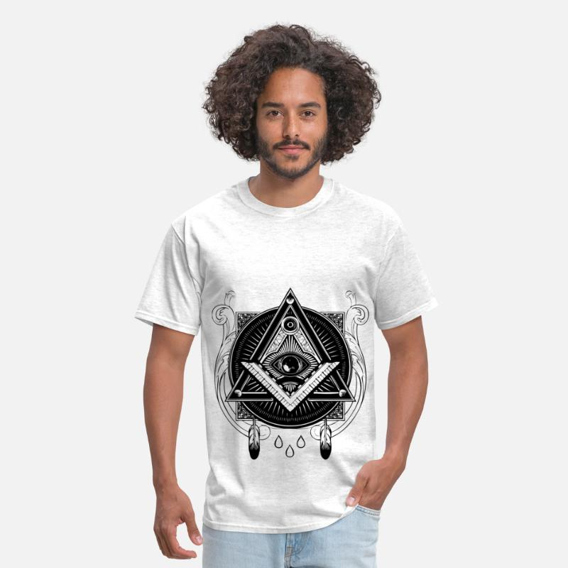Illuminati T-Shirts - all seeing eye - Men's T-Shirt light heather grey