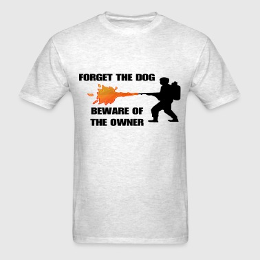 Beware of the owner - no gun control - Men's T-Shirt