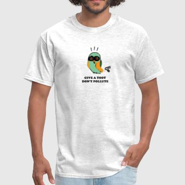 Environmental Statement Give a Toot, Don't Pollute Owl - Men's T-Shirt