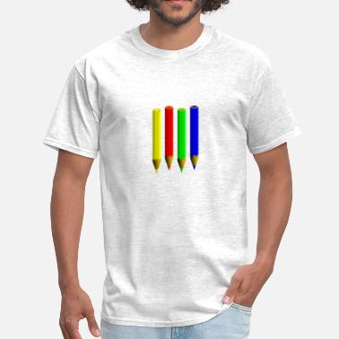 Pencil pencils - Men's T-Shirt