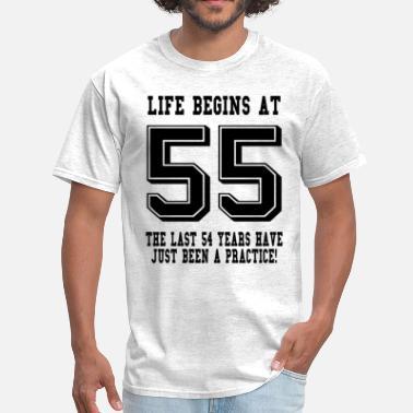 55 Birthday Life Begins At 55th