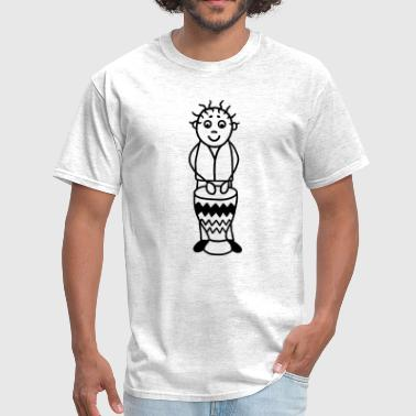 Drummer with Djembe - Percussion - Men's T-Shirt