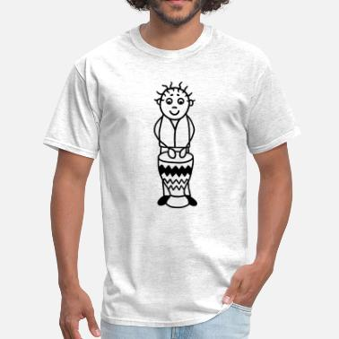 Latin Percussion Drummer with Djembe - Percussion - Men's T-Shirt