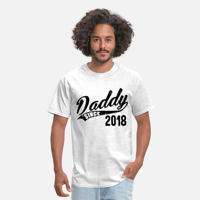 Dad To Be 2018 T-Shirts - Daddy Since 2018 - Men's T-Shirt light heather grey