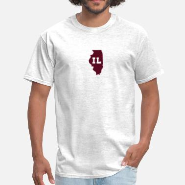 Abbreviated Illinois Shape Abbreviation - Men's T-Shirt