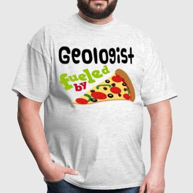 Geologist Fueled By Pizza - Men's T-Shirt