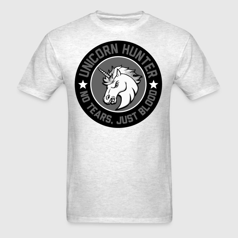 Men Unicorn Hunter - Men's T-Shirt