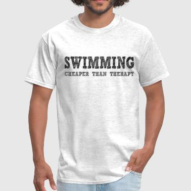 Swimming Cheaper Than Therapy Swimming Cheaper Than Therapy - Men's T-Shirt
