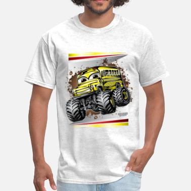 School Bus Cool Monster Bus - Men's T-Shirt