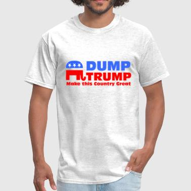 Incompetent Dump Trump Make this country Great - Men's T-Shirt