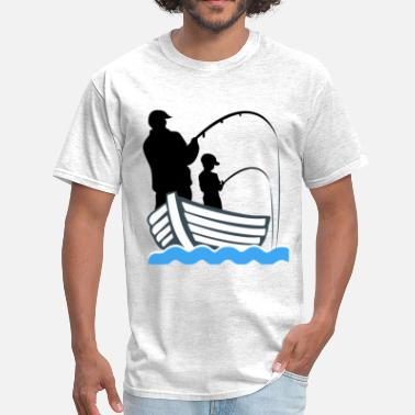 Fisherman Fishing Dad - Men's T-Shirt