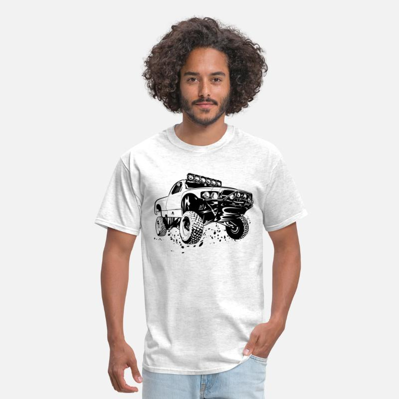 Offroad Vehicles T-Shirts - Off-Road Race Truck - Men's T-Shirt light heather grey