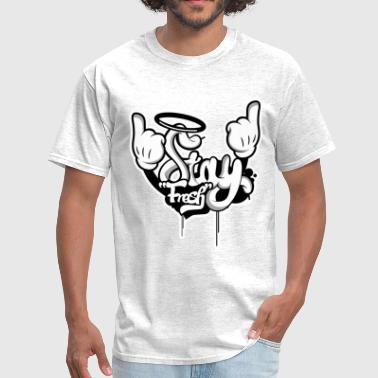 STAY FRESH WHITE OUTLINE.png - Men's T-Shirt