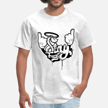 Mouse STAY FRESH WHITE OUTLINE.png - Men's T-Shirt