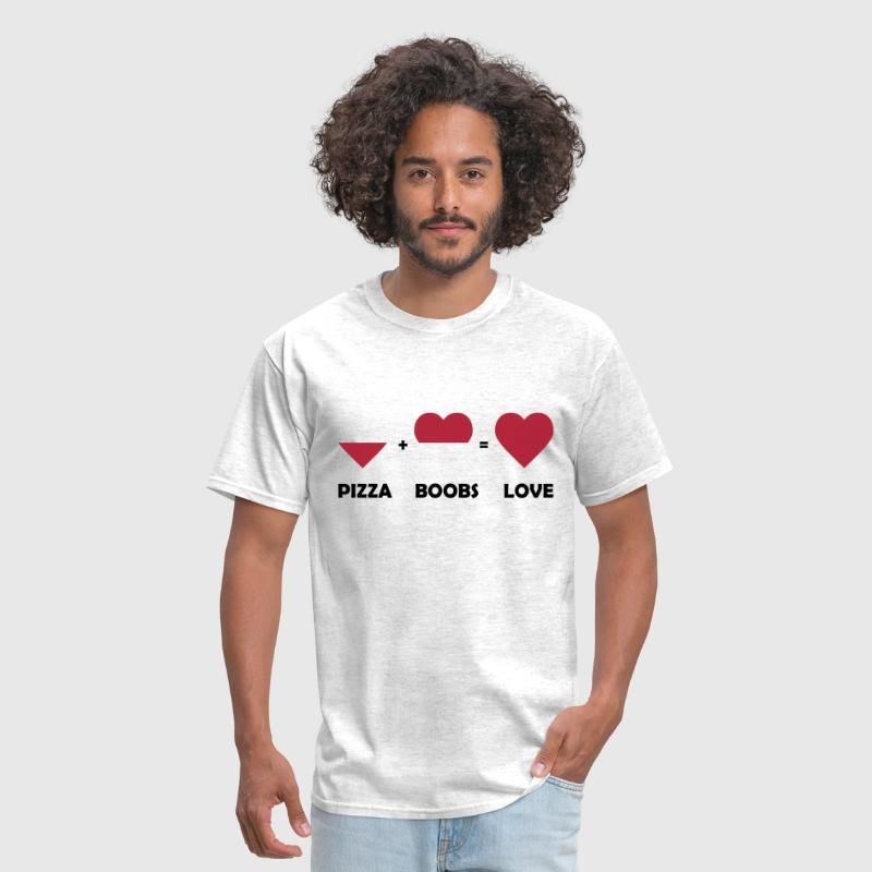 pizza boobs love - Men's T-Shirt