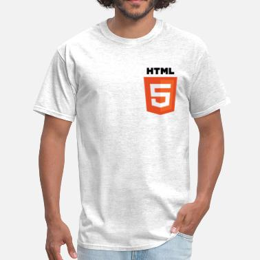 Android Logo Nerd html5 - Men's T-Shirt
