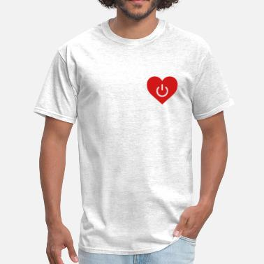 Romantic power of love v1 - Men's T-Shirt