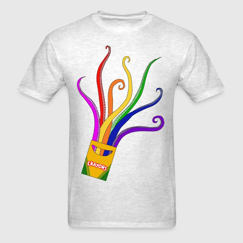 Men's T-Shirt - animated film,tentacle crayon
