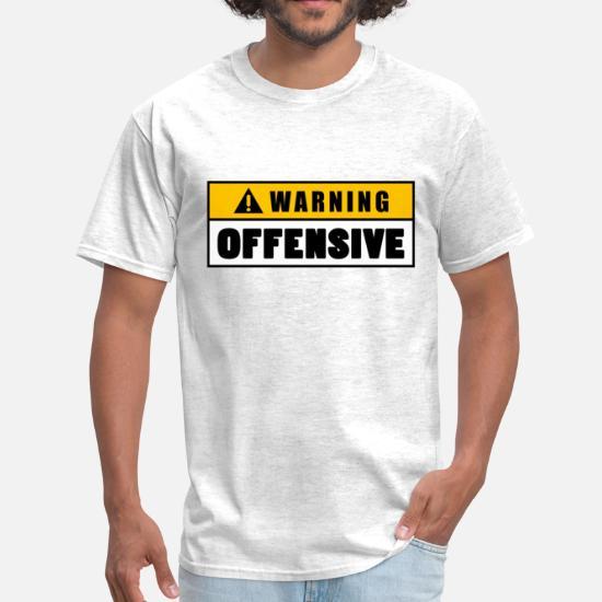 af6436c2 Offensive T-Shirts - Warning Offensive Lockout - Men's T-Shirt light  heather grey