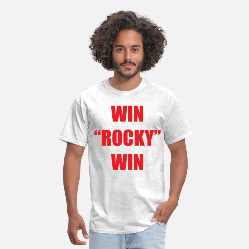 Rocky T-Shirts - Win Rocky win - Men's T-Shirt light heather grey
