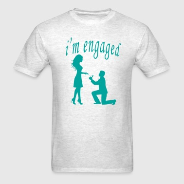 im_engaged_engagement_bride_funny_shirt_ - Men's T-Shirt