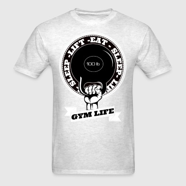 Eat sleep lift , Gym life - Men's T-Shirt