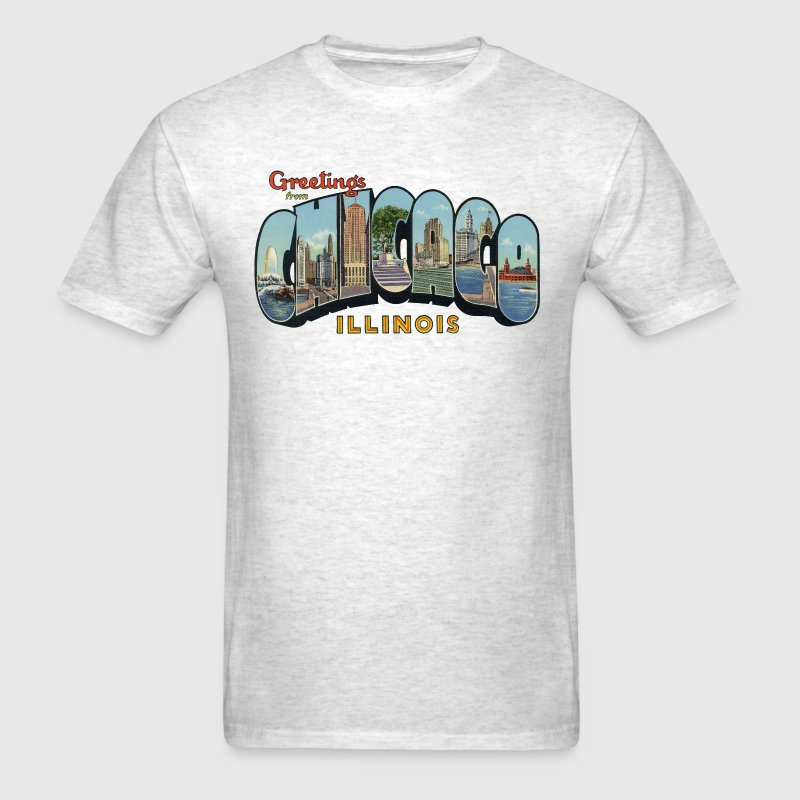 Greetings Chicago Illinois Apparel - Men's T-Shirt
