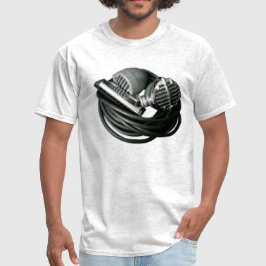 Harmonica Harmonica and Vintage Bullet Mics - Men's T-Shirt